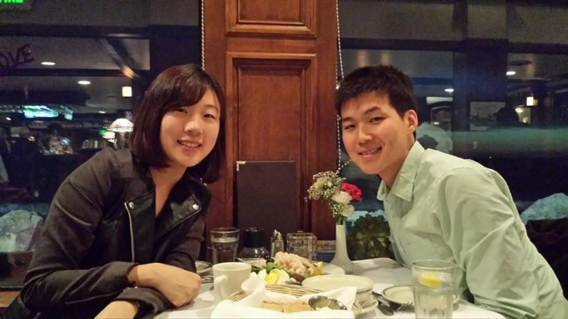 2014년 2월 하프문 베이에서 프로포즈 하기 직전 저녁식사!
