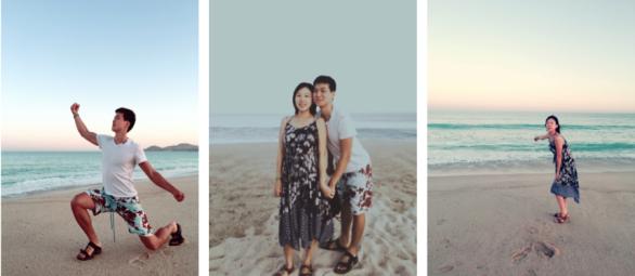 Los Cabos해변가에서 사진찍기 놀이